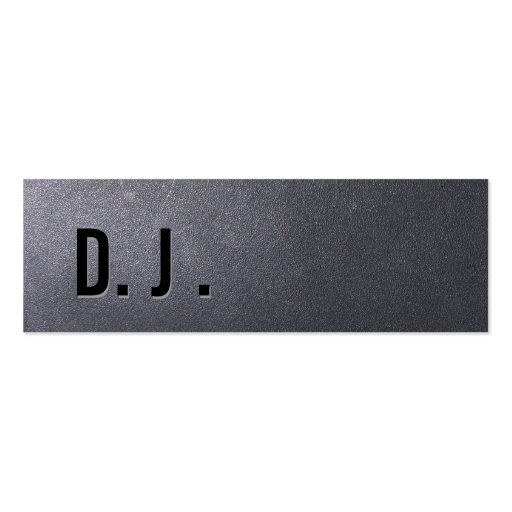 Coal Black DJ Mini Business Card