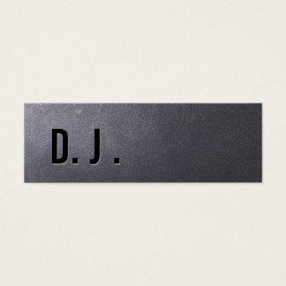 Coal Black DJ Mini Business Card
