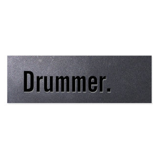 Coal Black Drummer Mini Business Card
