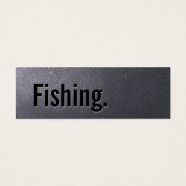 Professional Business Coal Black Fishing Mini Business Card
