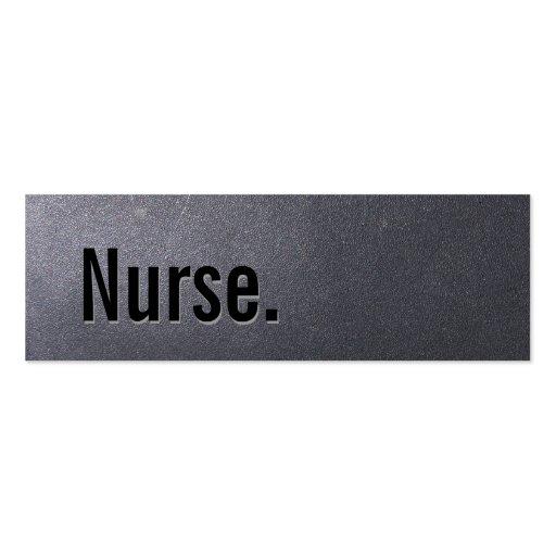 Coal Black Nurse Mini Business Card