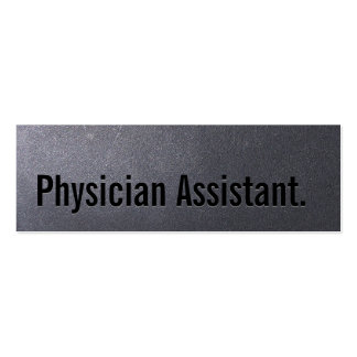 Coal Black Physician Assistant Mini Business Card