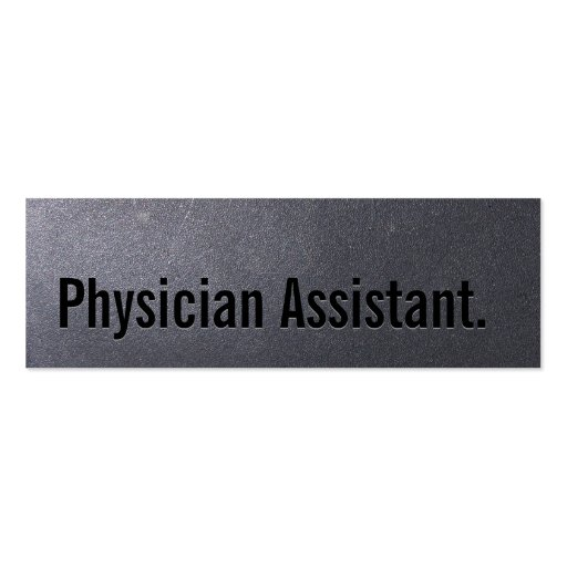 Coal Black Physician Assistant Mini Business Card
