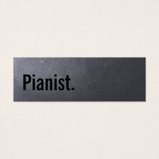 Coal Black Pianist Mini Business Card