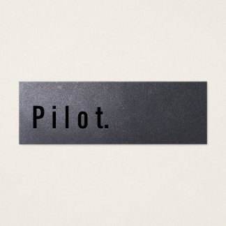 Coal Black Pilot Mini Business Card