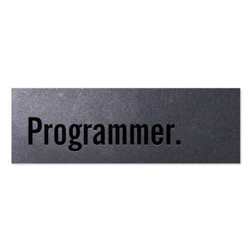 Coal Black Programmer Mini Business Card