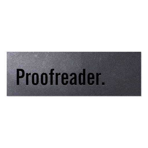 Coal Black Proofreading Mini Business Card