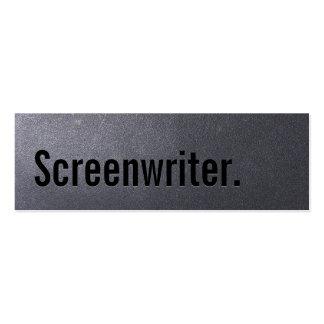 Coal Black Screenwriter Mini Business Card