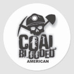 COAL BLOODED AMERICAN.jpg Round Stickers
