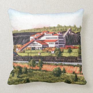 Coal Breaker Throw Pillow