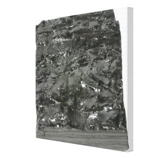 Coal Stretched Canvas Print