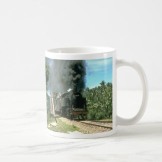 Coal empties for Padang Panjang are hauled by 2-6- Classic White Coffee Mug