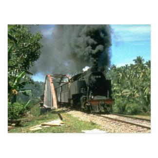 Coal empties for Padang Panjang are hauled by 2-6- Postcard