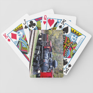 Coal Engine Train Bicycle Playing Cards