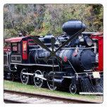 Coal Engine Train Square Wallclocks