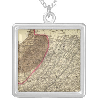 Coal fields in West Virginia Silver Plated Necklace