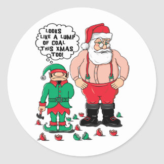 Coal For Christmas Classic Round Sticker