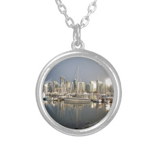 Coal Harbour, BC at sunset. Silver Plated Necklace