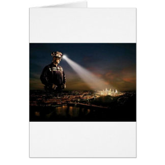 COAL KEEPS OUR LIGHTS ON GREETING CARD
