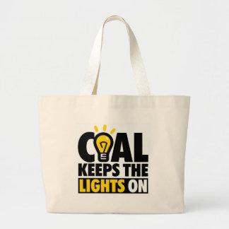 COAL KEEPS THE LIGHTS ON JUMBO TOTE BAG