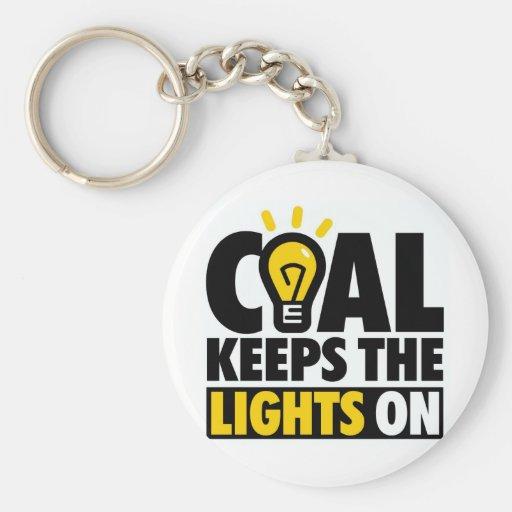 COAL KEEPS THE LIGHTS ON KEY CHAINS