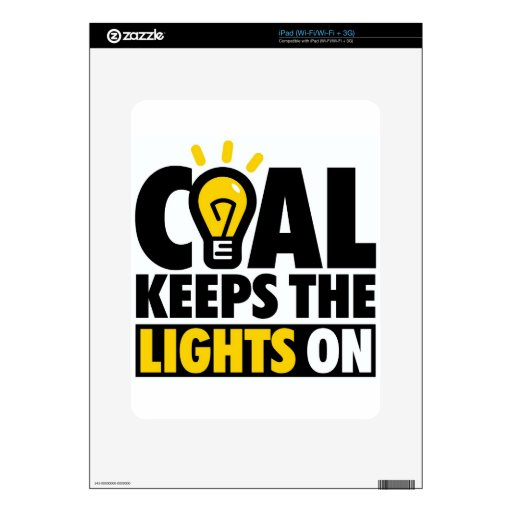 COAL KEEPS THE LIGHTS ON SKIN FOR THE iPad