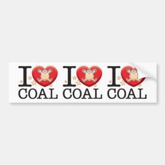 Coal Love Man Car Bumper Sticker