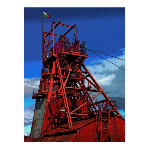 Coal Mine above ground, Colour Posters