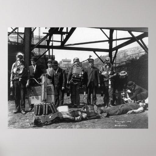 Coal Mine Life Savers: 1910 Poster