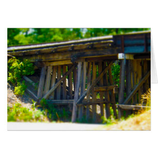 Coal Mine Road Train Bridge Kansas City Greeting Cards