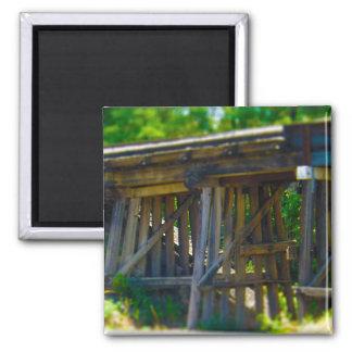 Coal Mine Road Train Bridge Kansas City Magnet