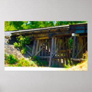Coal Mine Road Train Bridge Kansas City Poster