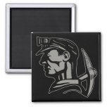 COAL MINER 2 INCH SQUARE MAGNET