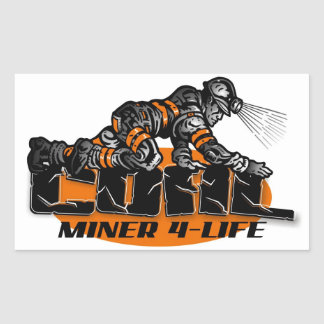 COAL MINER 4-LIFE RECTANGULAR STICKER