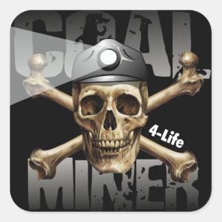 COAL MINER 4-LIFE SQUARE STICKER