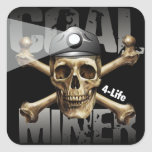 COAL MINER 4-LIFE STICKERS
