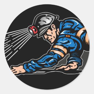 coal miner classic round sticker