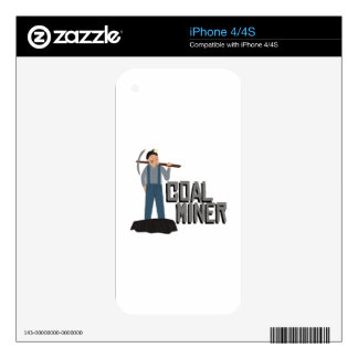 Coal Miner Decal For The iPhone 4S