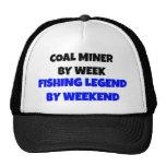 Coal Miner Fishing Legend Mesh Hat