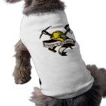 coal miner hat shovel spade pickax scroll dog t-shirt
