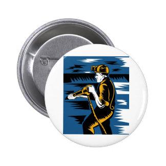 coal miner jack pneumatic drill retro buttons