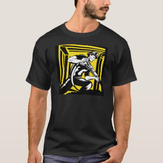 coal miner jack pneumatic drill retro T-Shirt