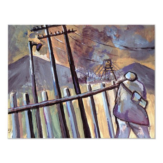 COAL MINER OFF TO WORK CARD