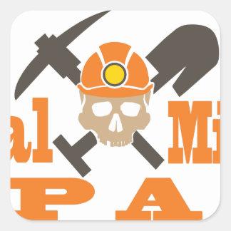 Coal Miner PA Square Sticker