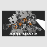 COAL MINER RECTANGLE STICKERS