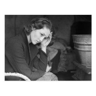Coal miner's daughter – 1936 postcards