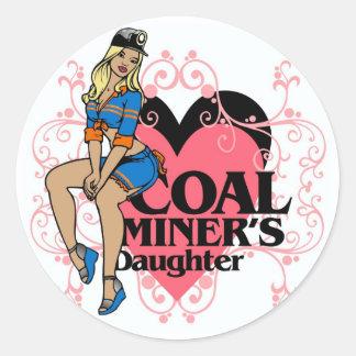 COAL MINER S DAUGHTER ROUND STICKER