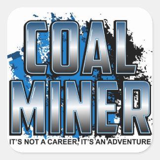 COAL MINER SQUARE STICKER