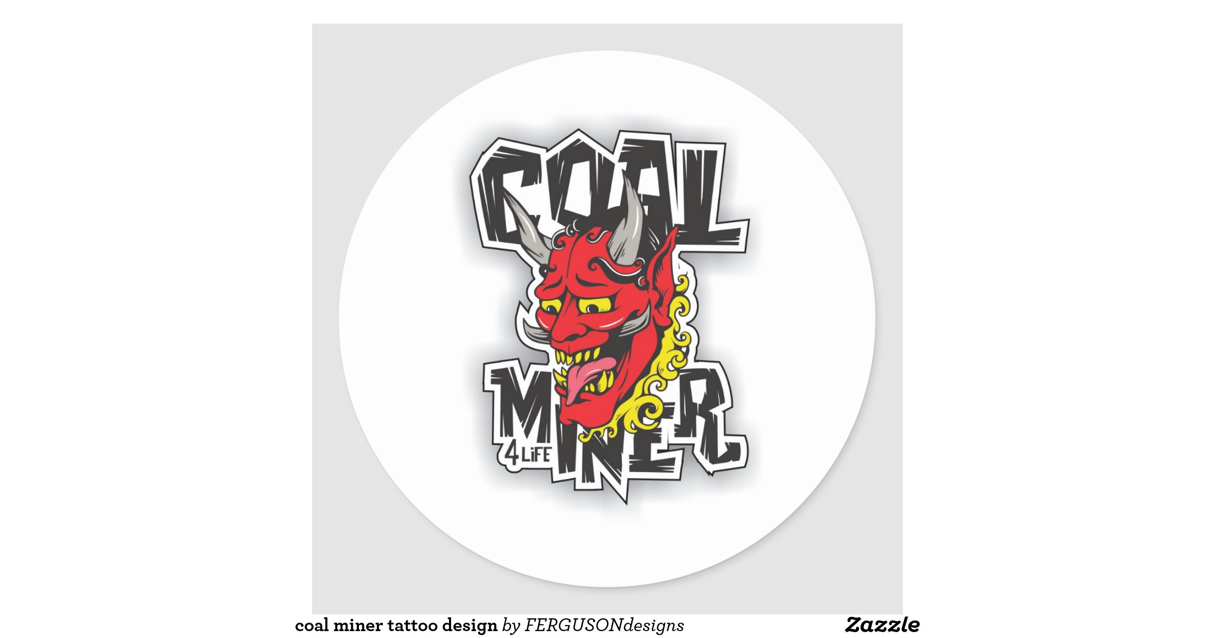 coal miner tattoo design classic round sticker r838ccf0669ea4f99bdc639eecc78aa9e v9waf 8byvr. Black Bedroom Furniture Sets. Home Design Ideas