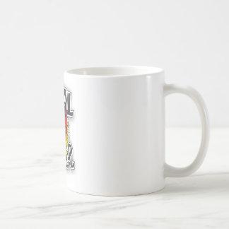 coal miner tattoo design coffee mug